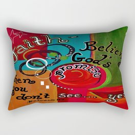 Hebrews 11 Faith Rectangular Pillow