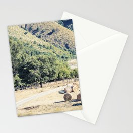 Free farm animals on a river bed in Cilento Stationery Cards