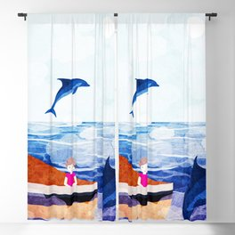When dolphins are around 2 Blackout Curtain