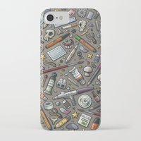 lab iPhone & iPod Cases featuring Graphic lab by Philippe Mignotte