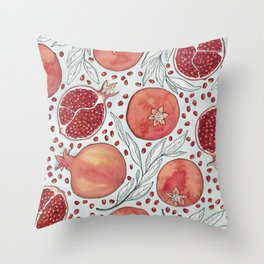 Old Pomegranates Throw Pillow