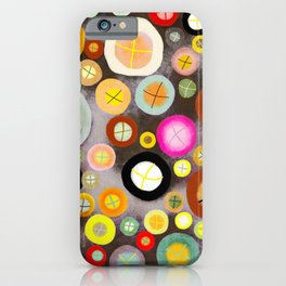 The incident - Circles pale vintage cross iPhone Case