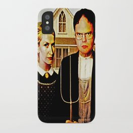 Dwight Schrute & Angela Martin (The Office: American Gothic) iPhone Case
