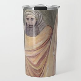 Reproduction of a Section of The Trial By Fire Fresco by Giotto Travel Mug