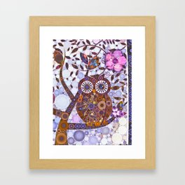If Klimt Painted An Owl :) Owls are darling birds! Framed Art Print