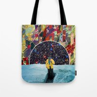 portal Tote Bags featuring PORTAL  by Blaž Rojs