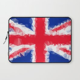 The Flag of the United Kingdom with Low Poly Effect Laptop Sleeve