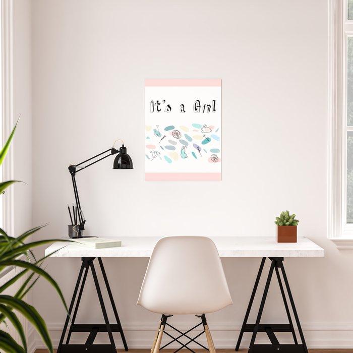 Girl baby confetti Poster