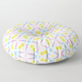 Symmetric patterns 140 Pink and blue Floor Pillow
