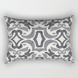 Black and White Tiles Rectangular Pillow