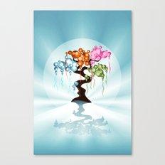 The Four Seasons Bubble Tree Canvas Print