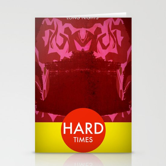 Long Nights, Hard Times Stationery Cards