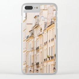 La Rue, Paris, France Clear iPhone Case