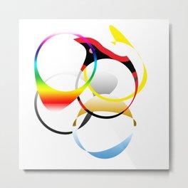 Colorful Joy  abstract geometrical art Metal Print