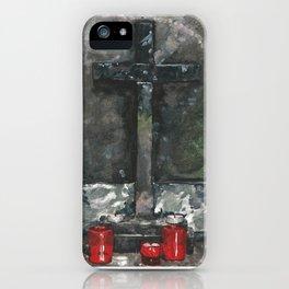 Stone Cross painting iPhone Case