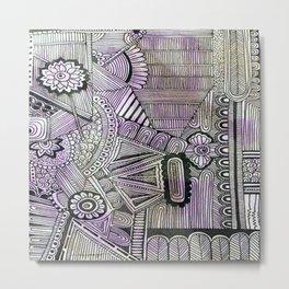 Abstract Crazy Doodle 2 Metal Print