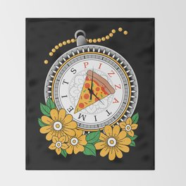 It's Pizza Time Throw Blanket