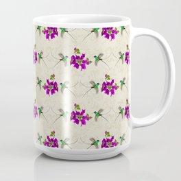 Hummingbirds & Bougainvillea Vintage Pattern Coffee Mug