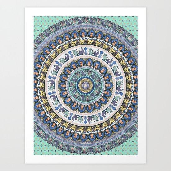 Frenchie Yoga Medallion Art Print