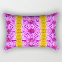Purple Aster Flowers Rectangular Pillow