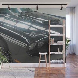 2010 MOPAR '10 Black Challenger Limited Edition White Stripe Variation Wall Mural