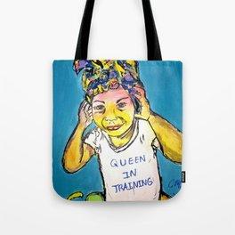 Black Queen in Training Tote Bag