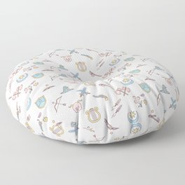 Cute Dungeons and Dragons classes Floor Pillow