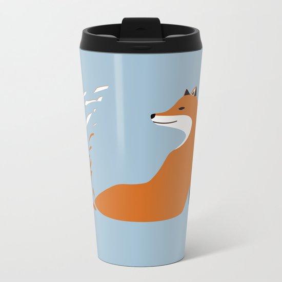 Fox Graphic Design Metal Travel Mug