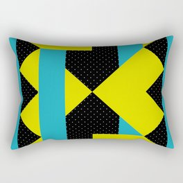There is a Green Geometric Heart Somewhere, and some other Things Rectangular Pillow