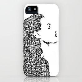 Kanji Calligraphy Art :woman's face #35 iPhone Case