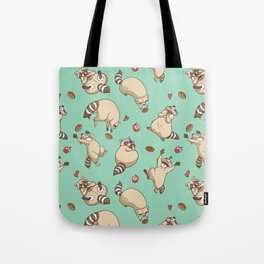 Raccoons Love Tote Bag