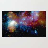 milky way Area & Throw Rugs featuring Milky Way by Upperleft Studios