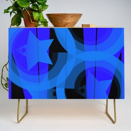 Blue stars and stripes Credenza