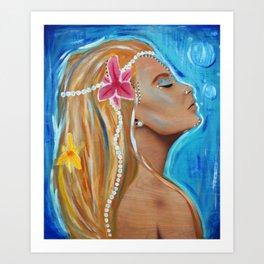 Mermaid song Art Print