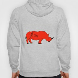 The Crimson Rhinocerous Hoody