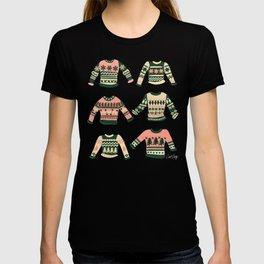 Christmas Sweaters – Vintage Blush Mint Palette T-shirt