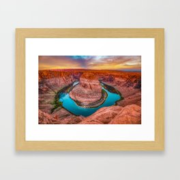 Colorful Skies Over Horseshoe Bend - Page Arizona Framed Art Print