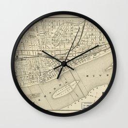 Map of Harrisburg, Pennsylvania (1884) Wall Clock