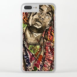La flame,music,hiphop,poster,astro world,tour,wall art,artwork,painting,colourful Clear iPhone Case