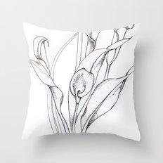 Calla Lily Point Throw Pillow