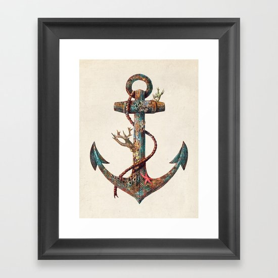 Lost at Sea - colour option Framed Art Print