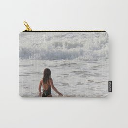 Breaking wave and girl Carry-All Pouch