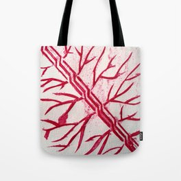 Growth red Tote Bag