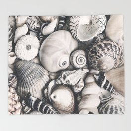 Sea Shell Collection Vintage Style Throw Blanket