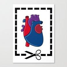 Cut My Heart Canvas Print