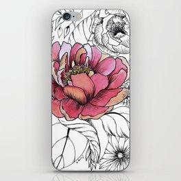 Painted Peony Garden iPhone Skin