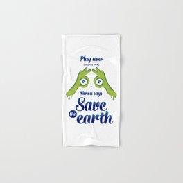 Simon says... Save the earth Hand & Bath Towel