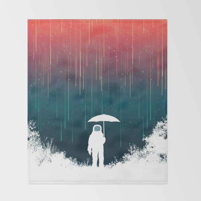 Meteoric rainfall Throw Blanket