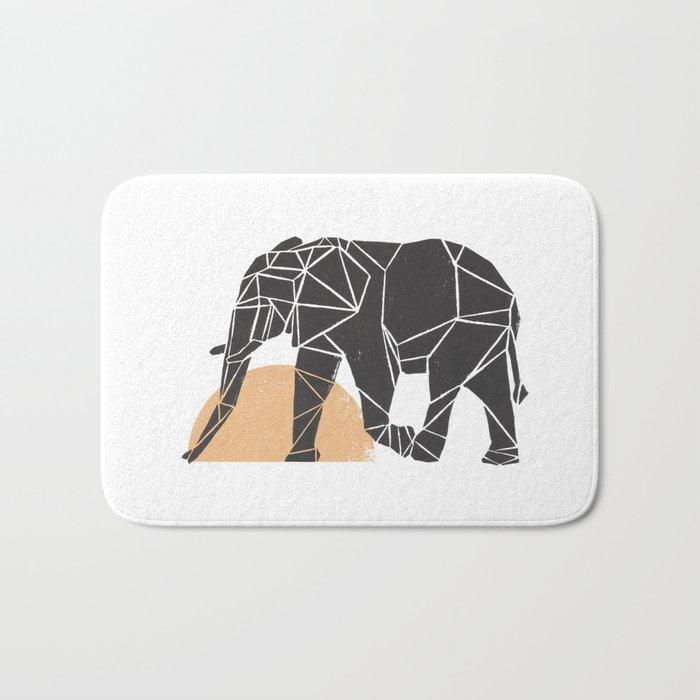 Geometric Elephant Bath Mat