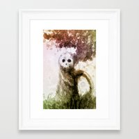 let it go Framed Art Prints featuring Let Go by Jæn ∞
